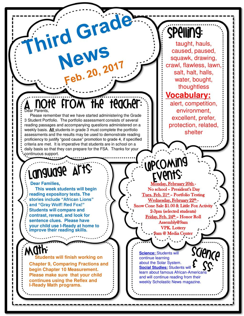 Third Grade News Feb  20, 2017 Vocabulary: - ppt download