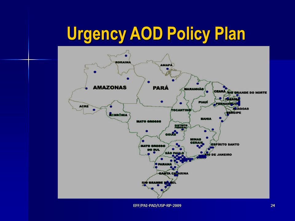 Urgency AOD Policy Plan
