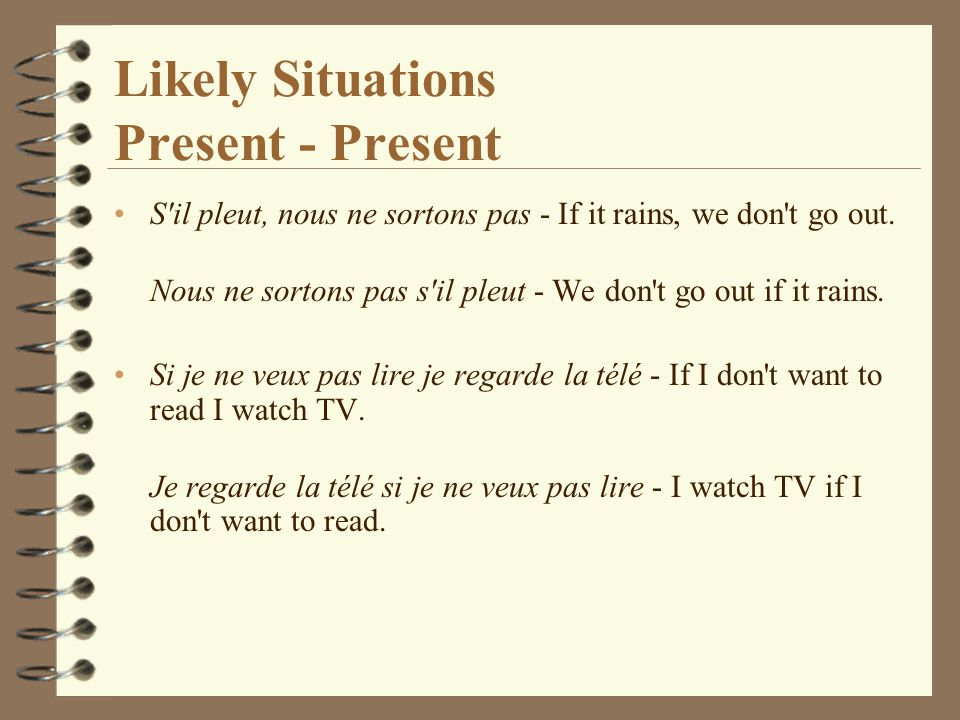 Likely Situations Present - Present