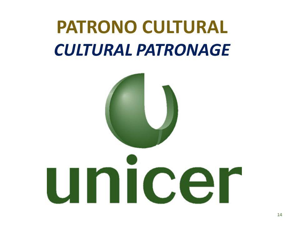 PATRONO CULTURAL CULTURAL PATRONAGE