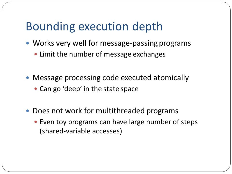 Bounding execution depth