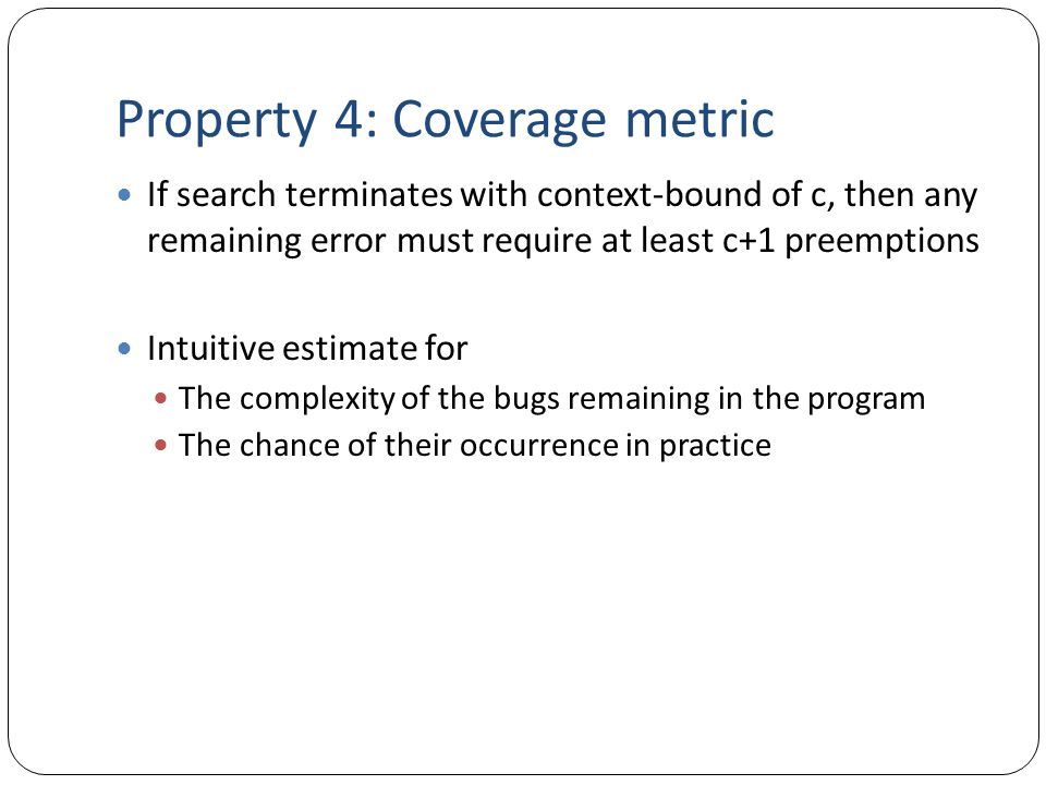 Property 4: Coverage metric
