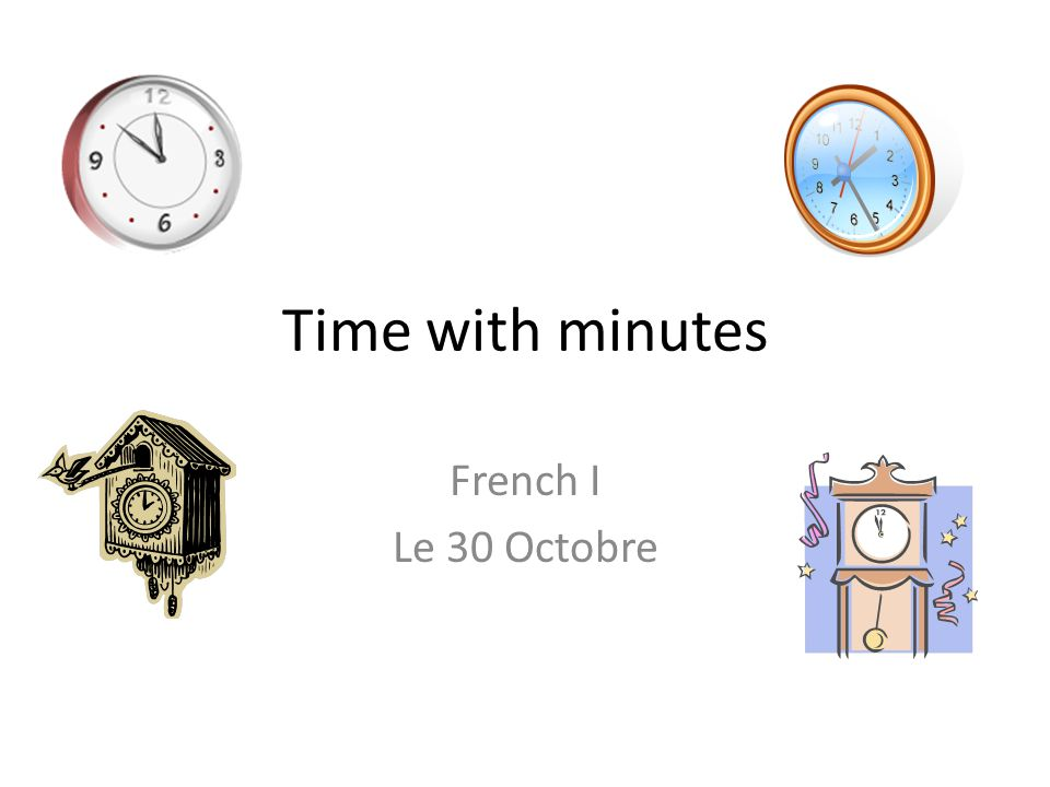 how to say o clock in french