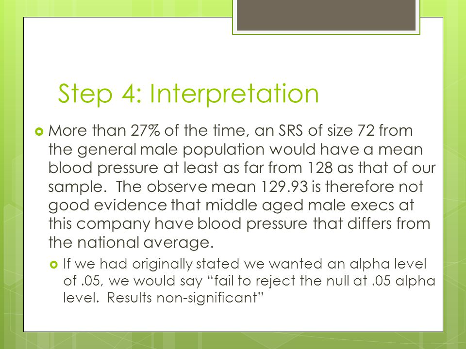 Step 4: Interpretation