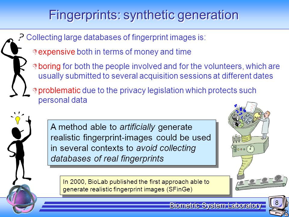 Fingerprints: fake detection