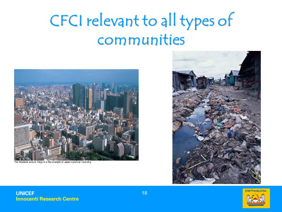 CFCI relevant to all types of communities