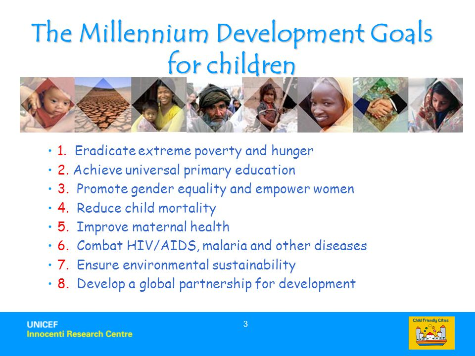 The Millennium Development Goals for children