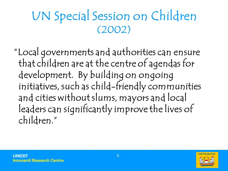 UN Special Session on Children (2002)
