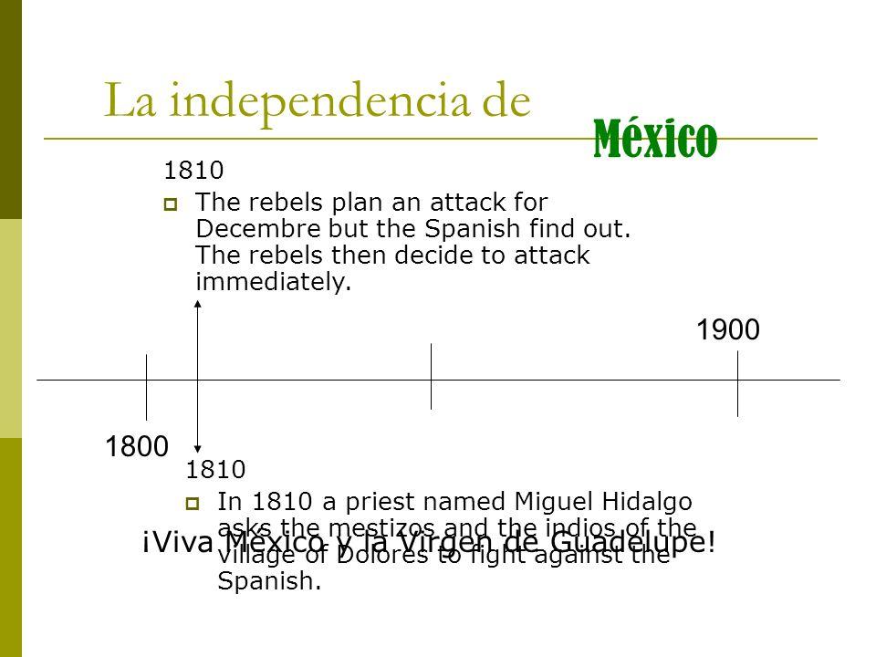 La independencia de México 1900 1800