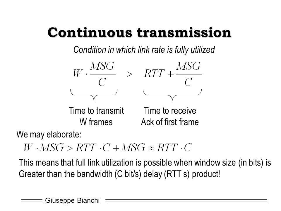 Continuous transmission