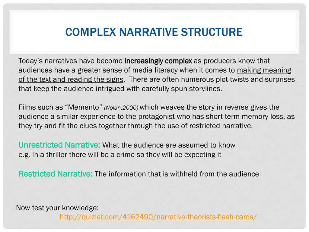 Narrative theory  - ppt download