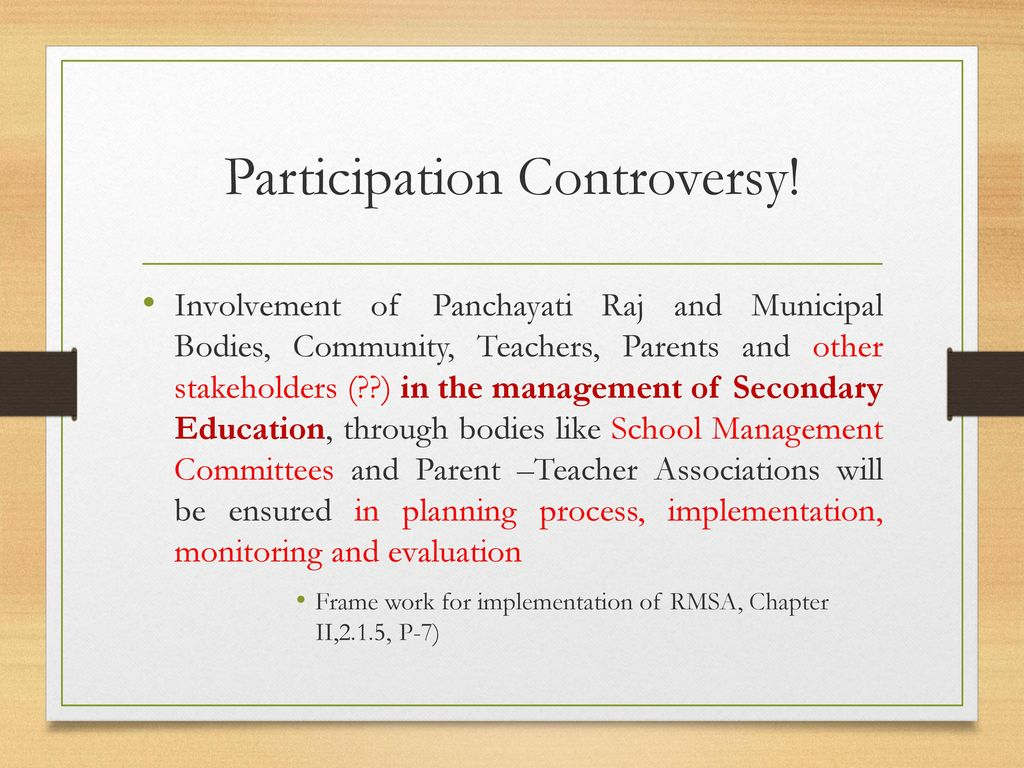 Participation Controversy!