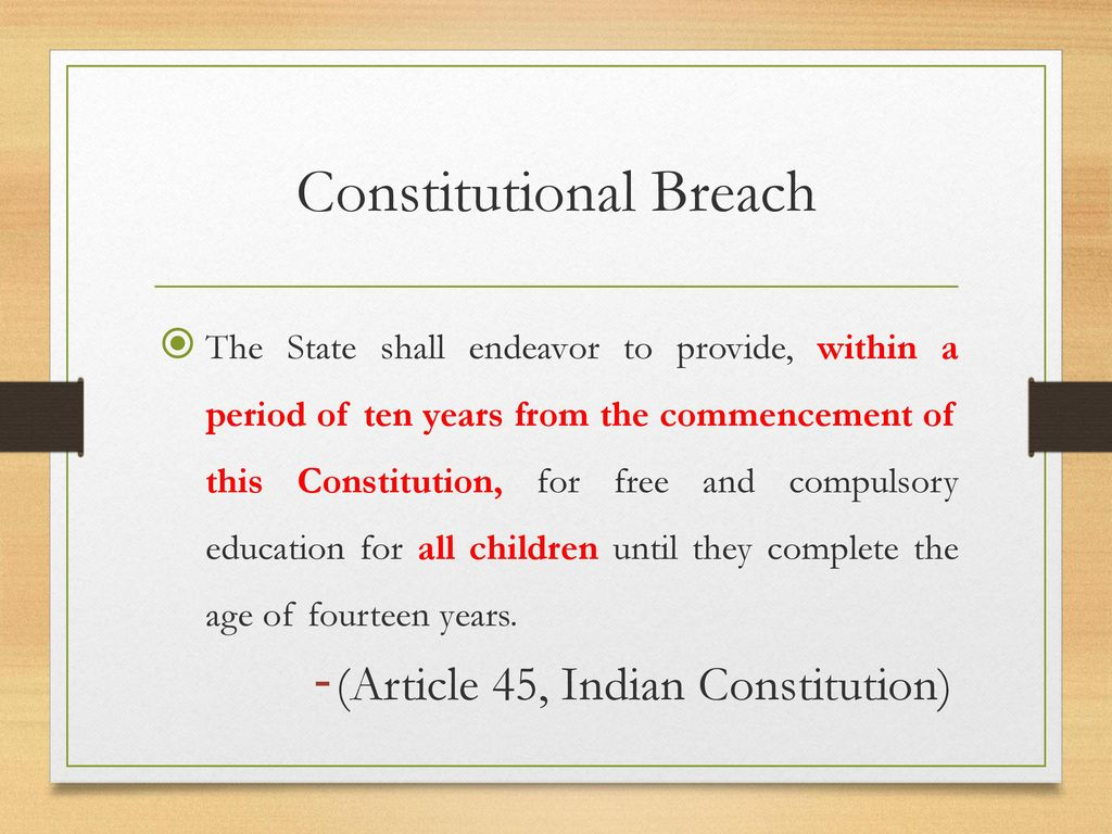 Constitutional Breach