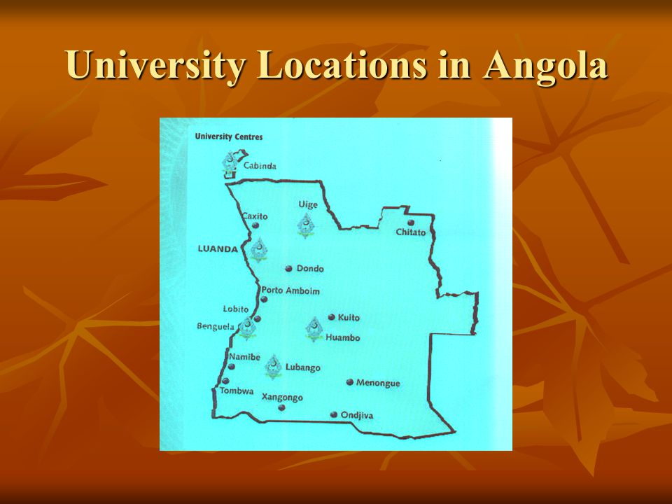 University Locations in Angola