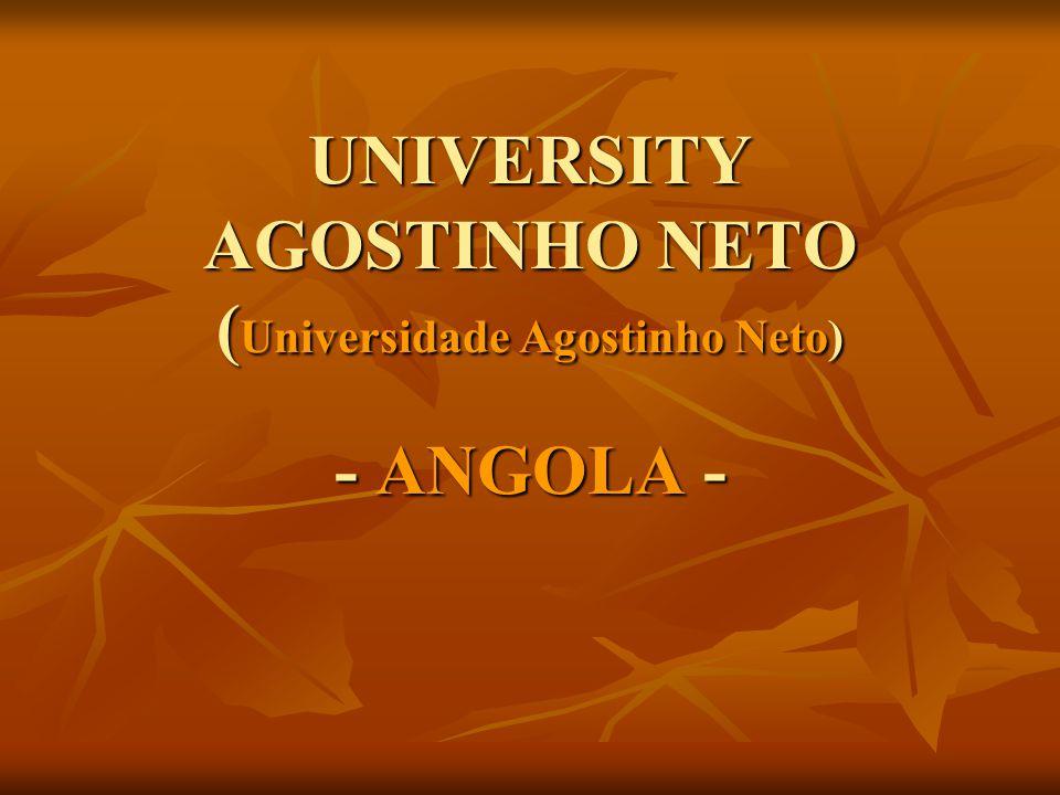 UNIVERSITY AGOSTINHO NETO (Universidade Agostinho Neto) - ANGOLA -