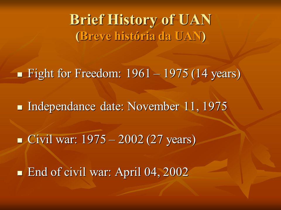 Brief History of UAN (Breve história da UAN)