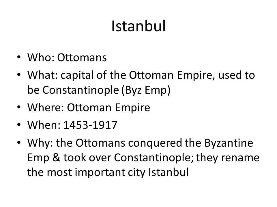 Istanbul Who: Ottomans