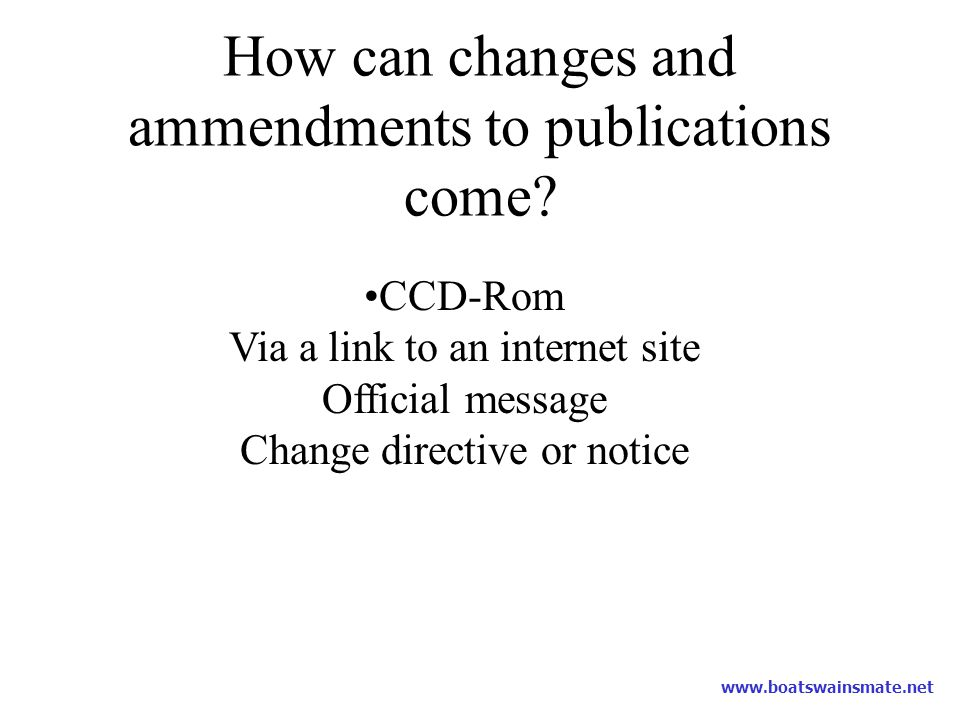 How can changes and ammendments to publications come