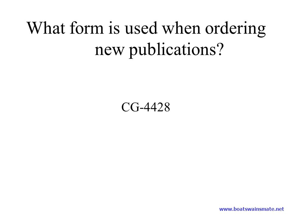 What form is used when ordering new publications