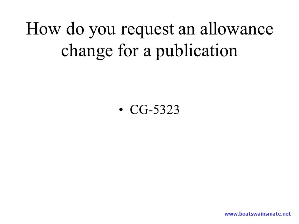 How do you request an allowance change for a publication