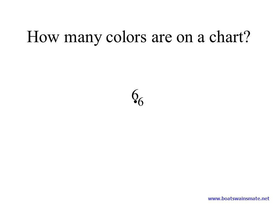How many colors are on a chart