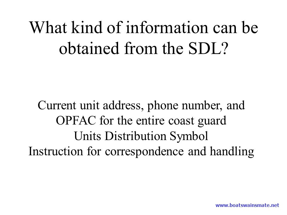 What kind of information can be obtained from the SDL