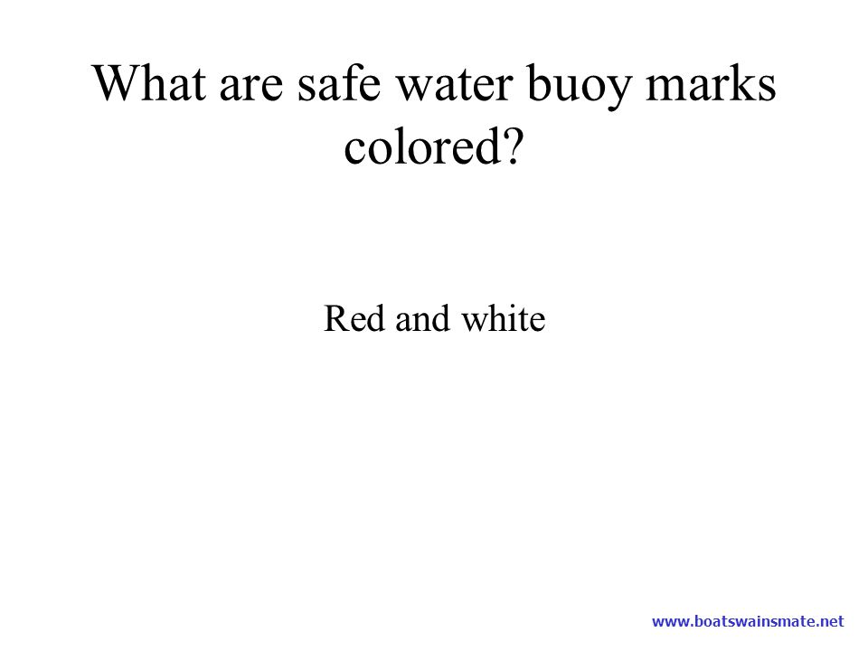 What are safe water buoy marks colored