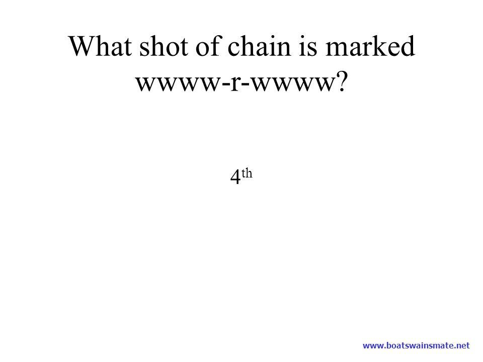 What shot of chain is marked wwww-r-wwww