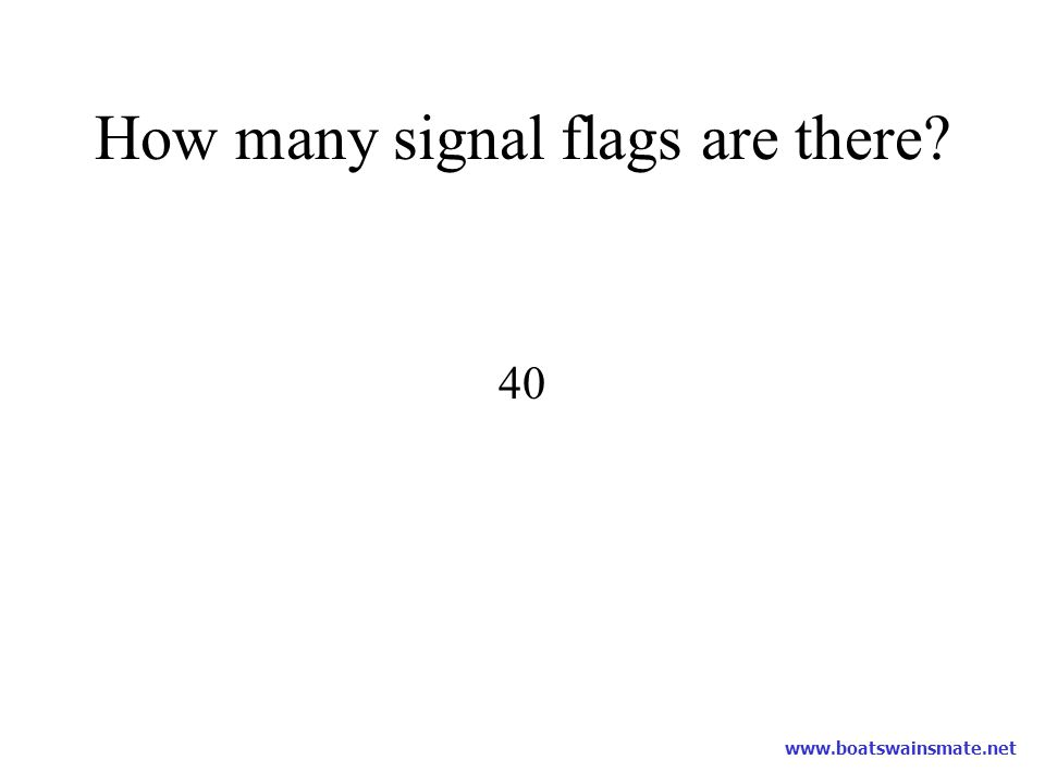 How many signal flags are there