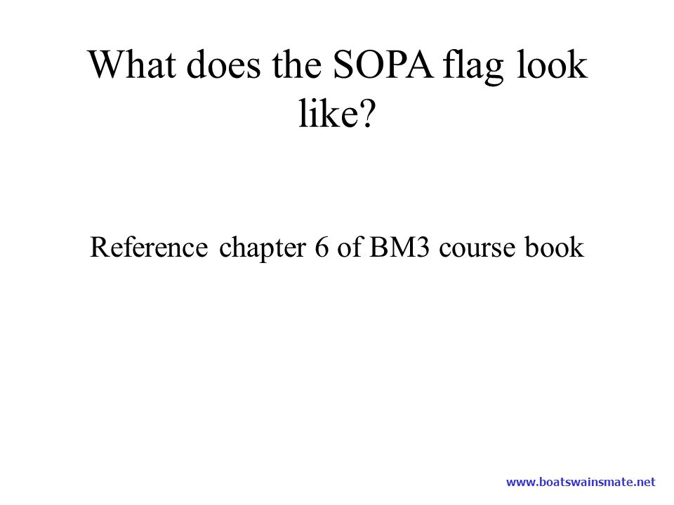 What does the SOPA flag look like