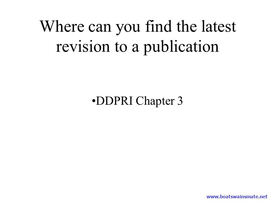 Where can you find the latest revision to a publication