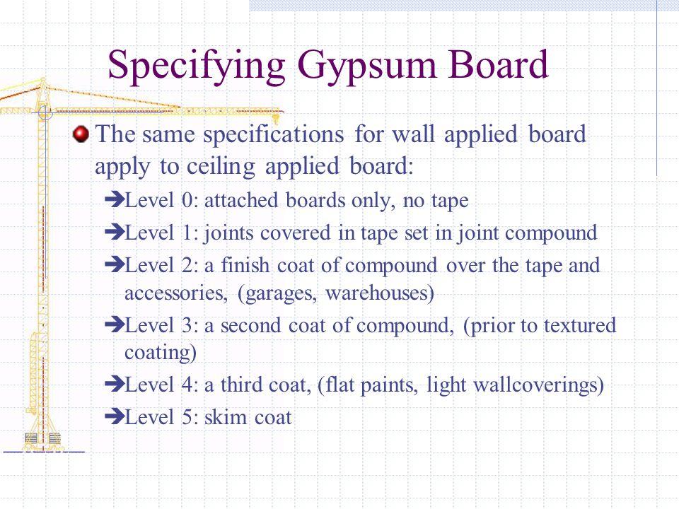 Specifying Gypsum Board