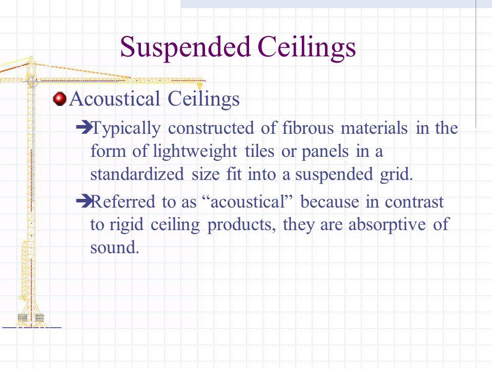 Suspended Ceilings Acoustical Ceilings