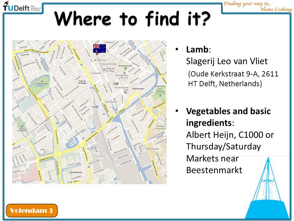Where to find it Lamb: Slagerij Leo van Vliet