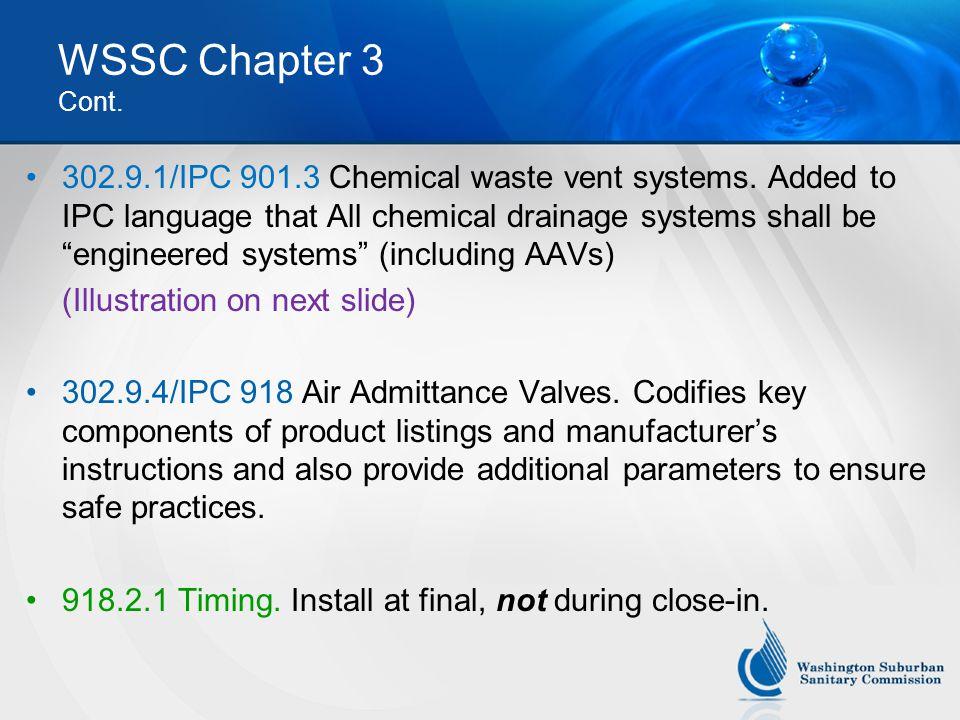 WSSC Chapter 3 Cont.
