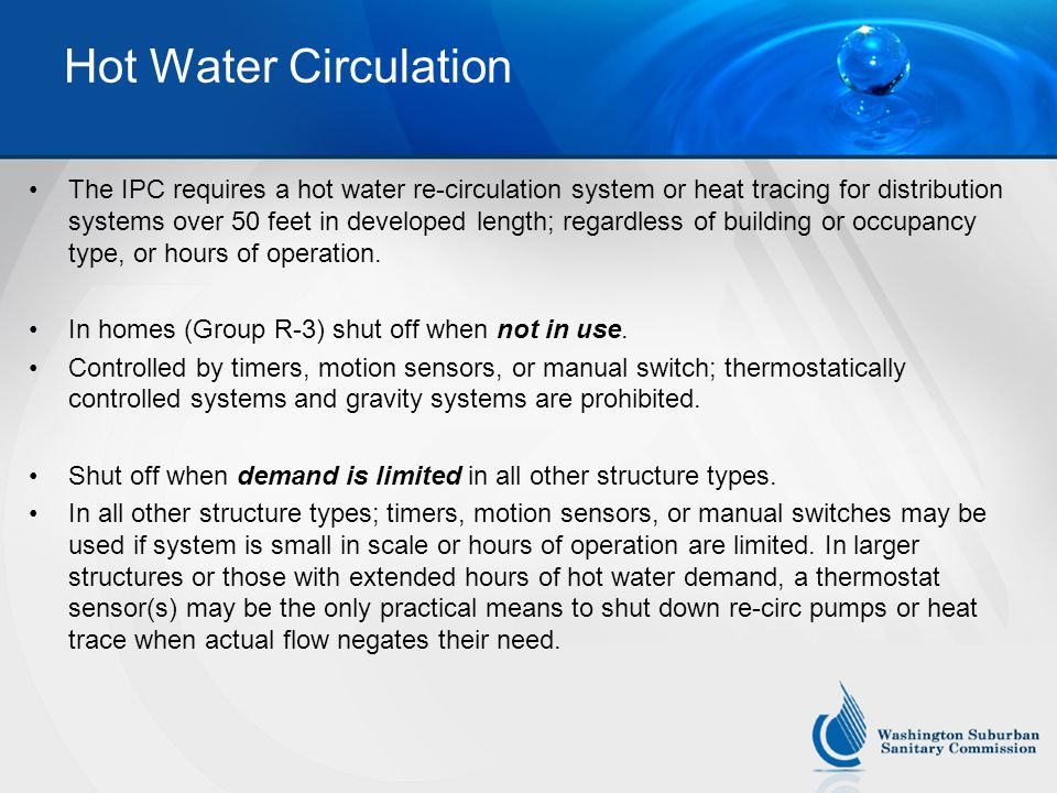 Hot Water Circulation