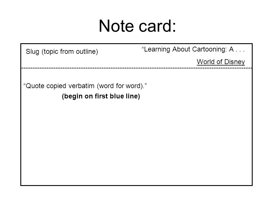 Note card: Learning About Cartooning: A . . .