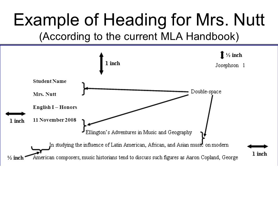 Example of Heading for Mrs