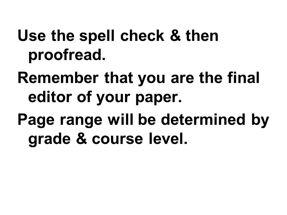 Use the spell check & then proofread.