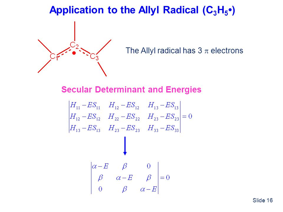Application to the Allyl Radical (C3H5•)