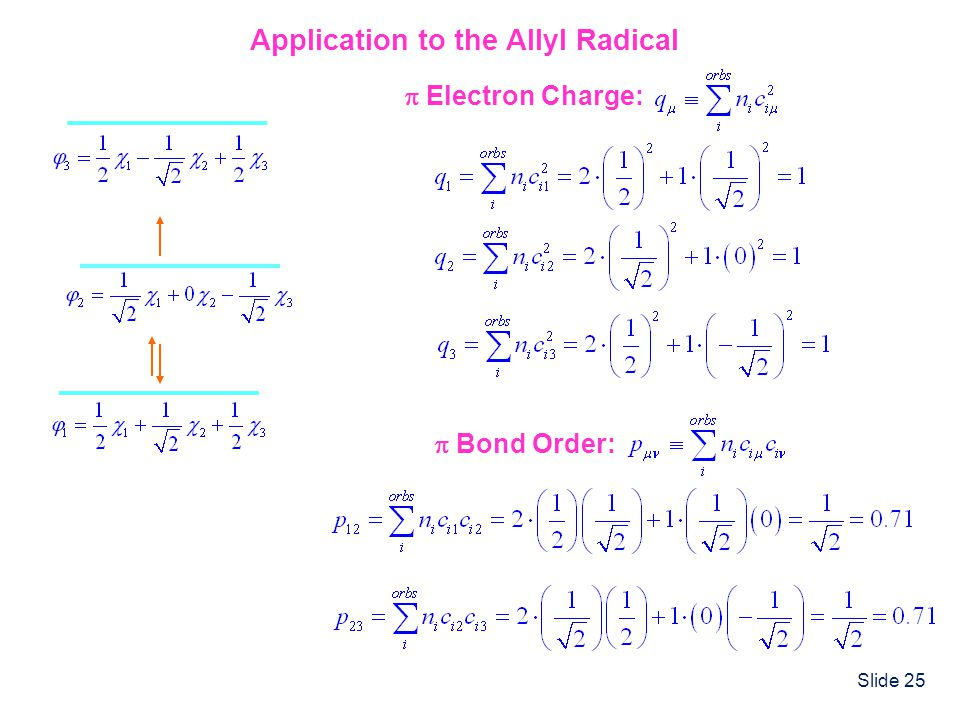 Application to the Allyl Radical
