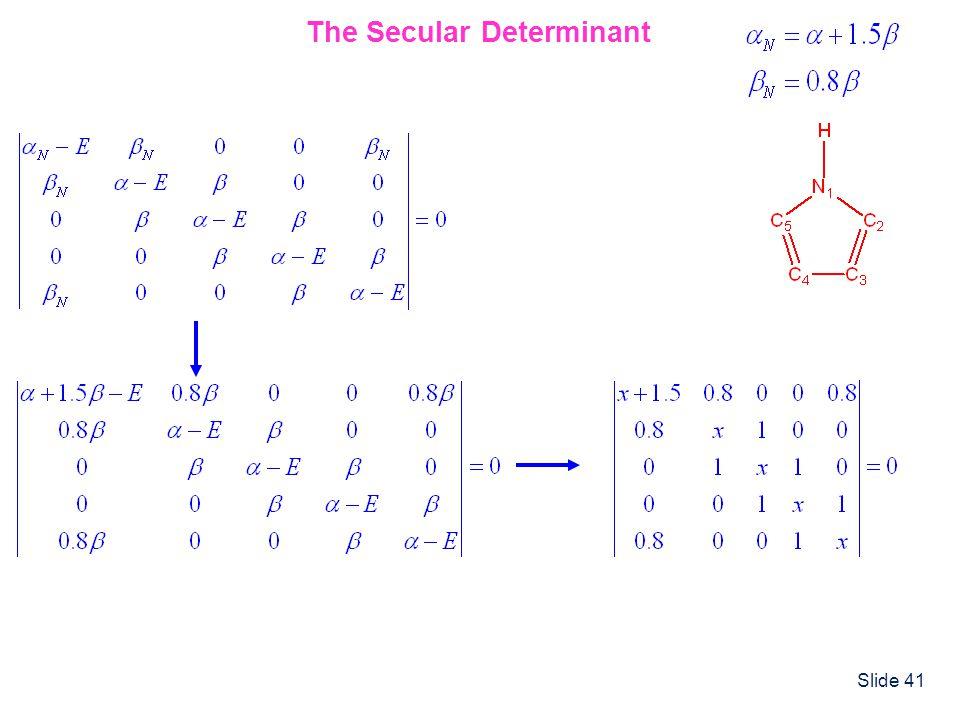 The Secular Determinant