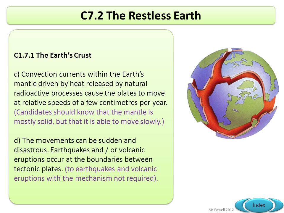C7.2 The Restless Earth C1.7.1 The Earth's Crust