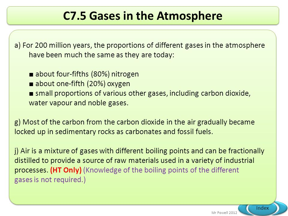 C7.5 Gases in the Atmosphere