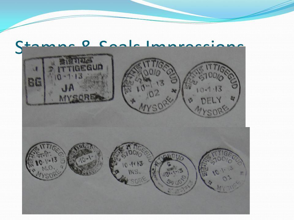 Stamps & Seals Impressions