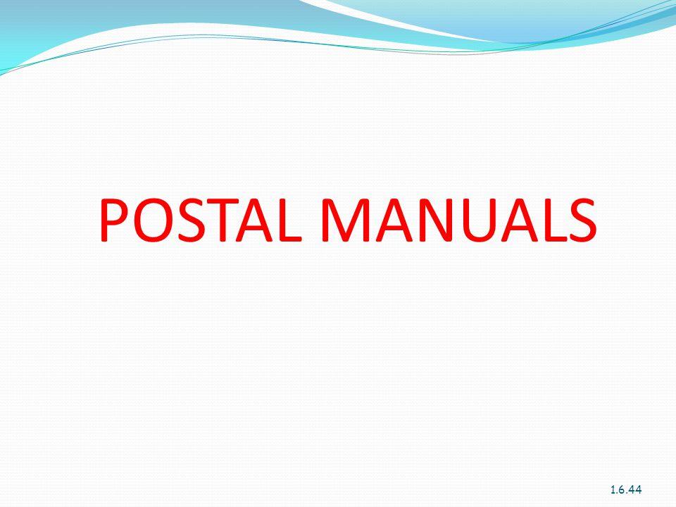 POSTAL MANUALS