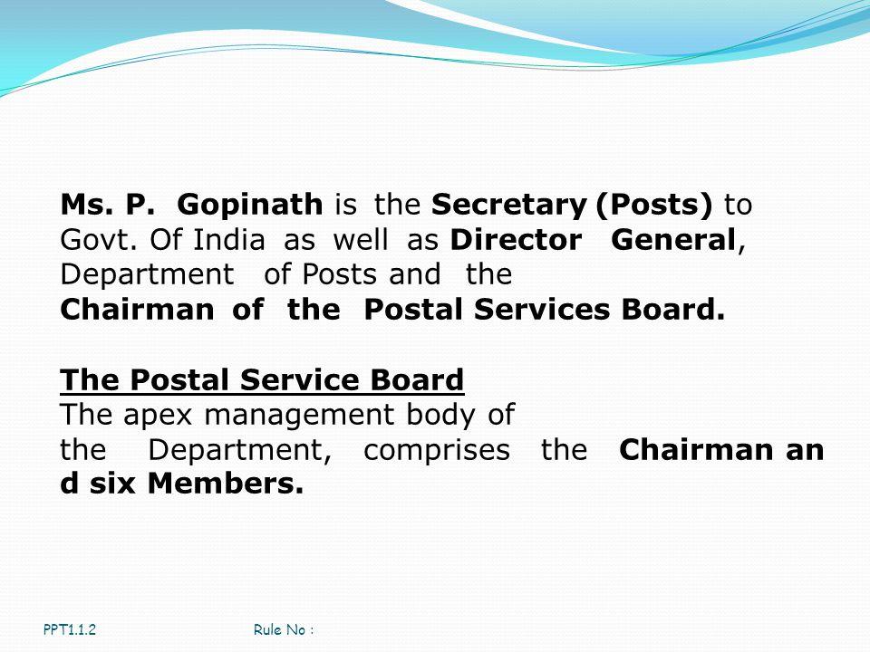 The Postal Service Board