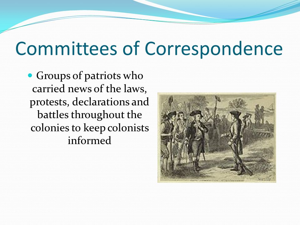 Committees of Correspondence