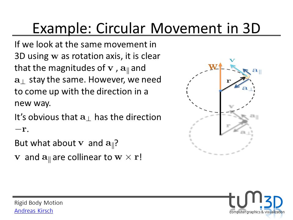 Example: Circular Movement in 3D