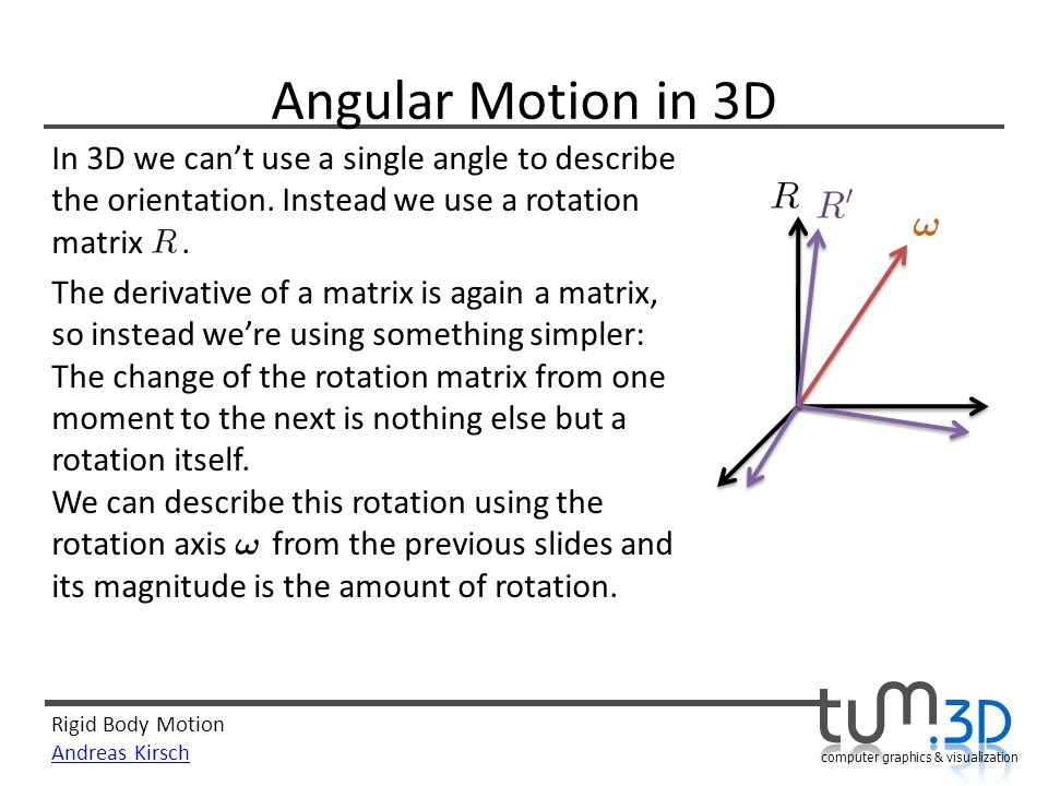 Angular Motion in 3D